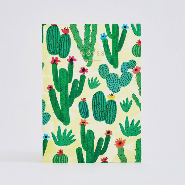 Cactus Field Large Notebook