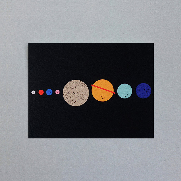 The Planets Mini Greetings Card