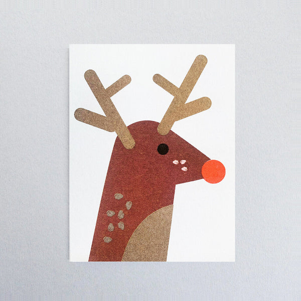 Rudolph Christmas Mini Greetings Card