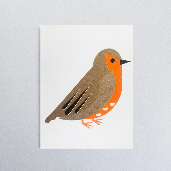 Robin Christmas Mini Greetings Card