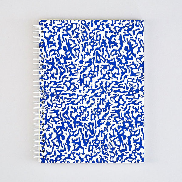 Blue & White Ripple Large Notebook