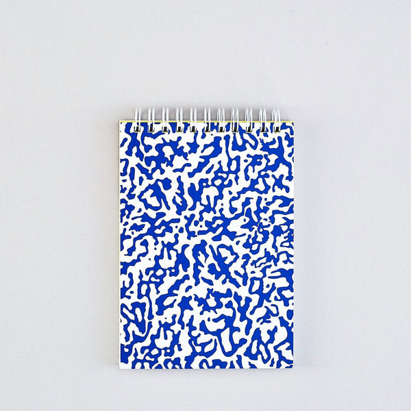 Blue & White Ripple Small Notebook
