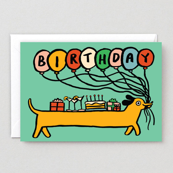 Sausage Dog Birthday Greetings Card