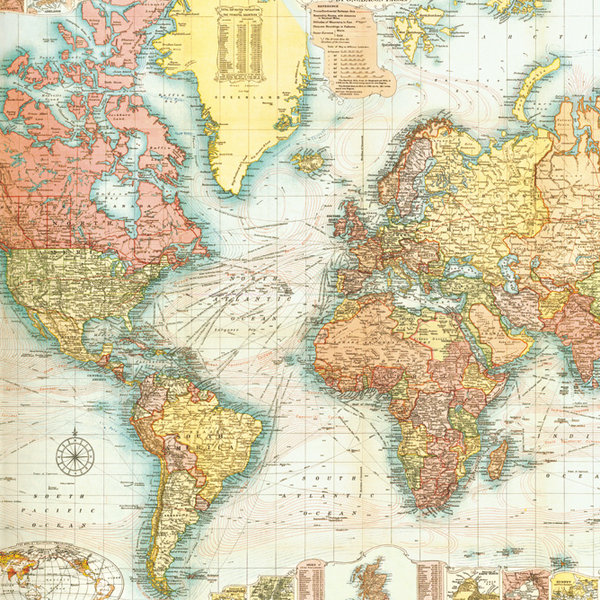 World Map Wrapping Paper (Click-and-Collect only)