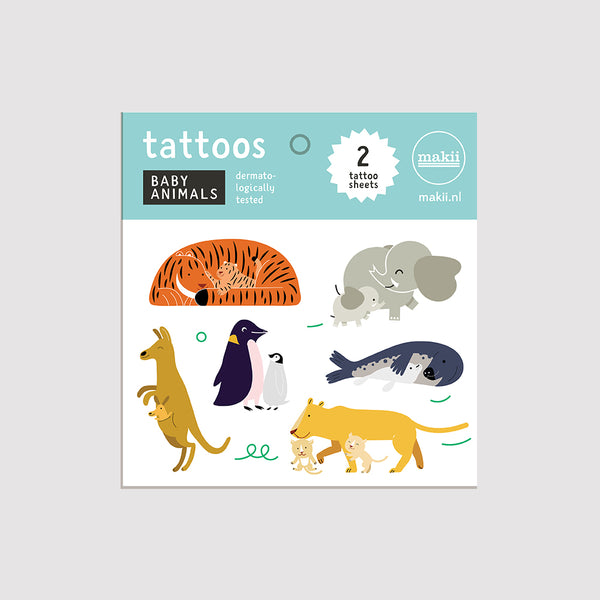 Tattoo Set Baby Animals