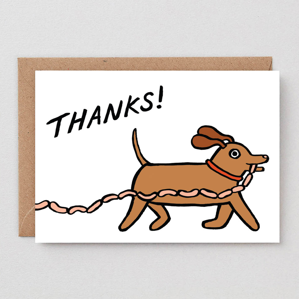 Thanks Sausages Greetings Card