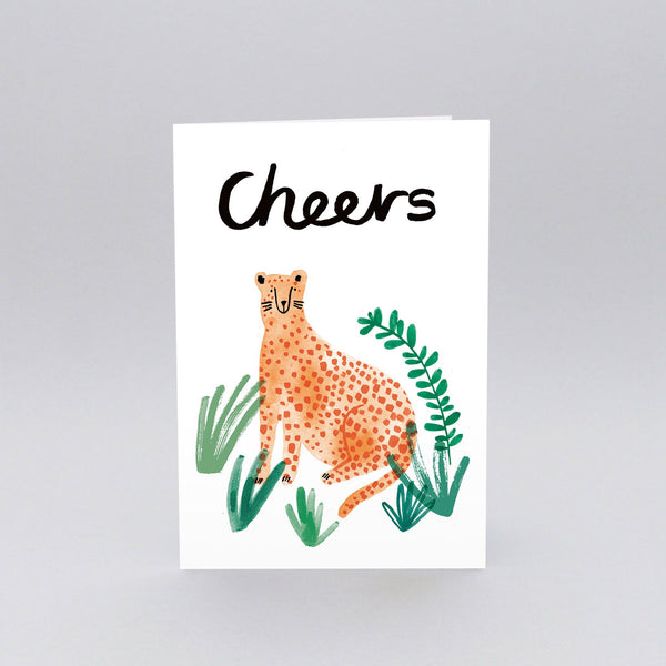 Cheers Cheetah Greetings Card