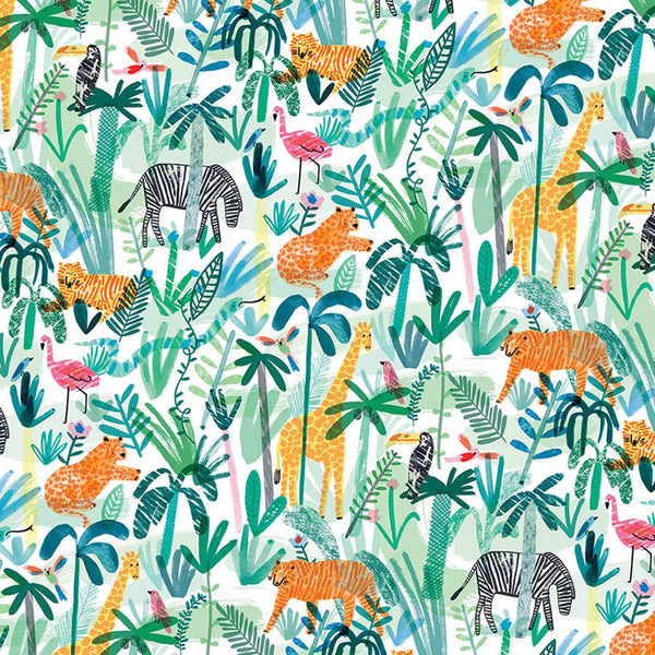 Jungle Animals Wrapping Paper (Click-and-Collect only)