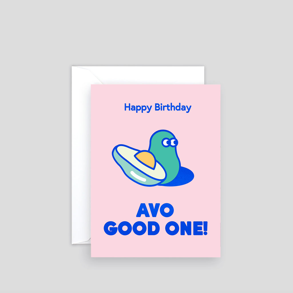 Avo Good One Mini Letterpress Card