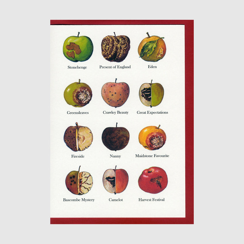 Bad Apples Greetings Card