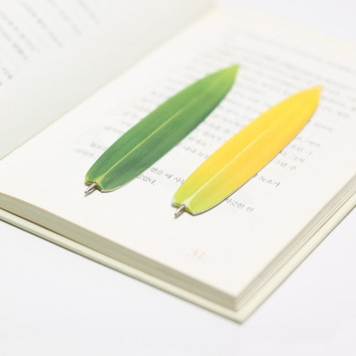 Appree Bamboo Leaf Bookmark Pen