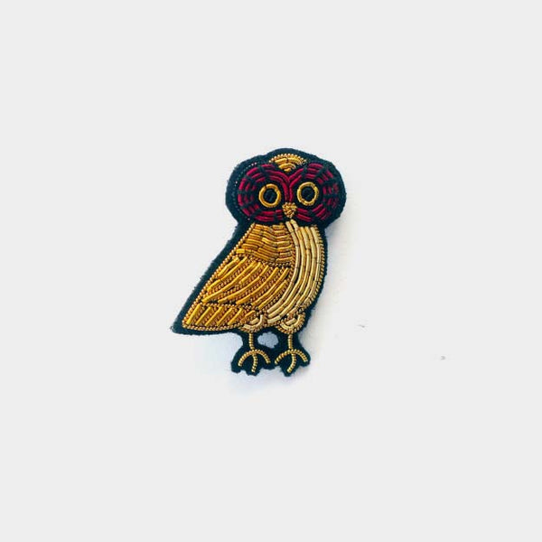 Macon & Lesquoy Owl Brooch