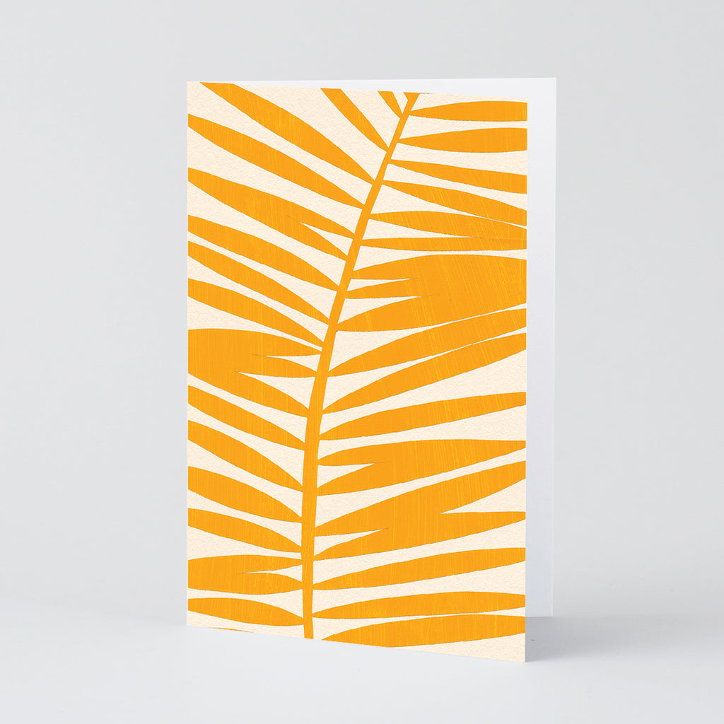 Yellow Fern Greetings Card