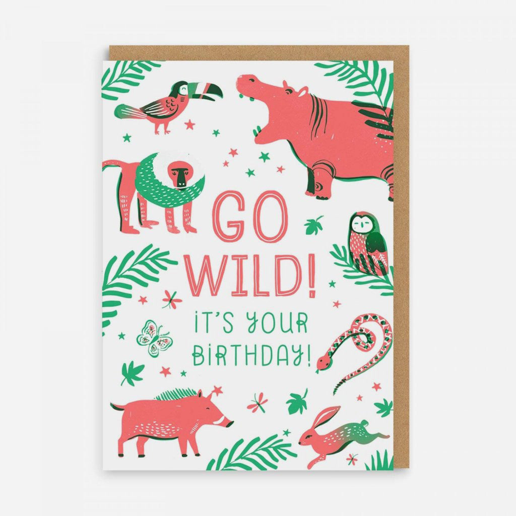 Go Wild! Greetings Card