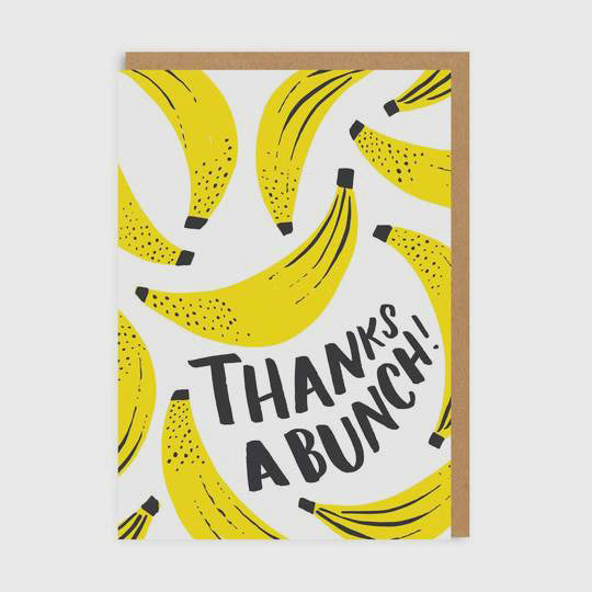 Thanks a Bunch Greetings Card
