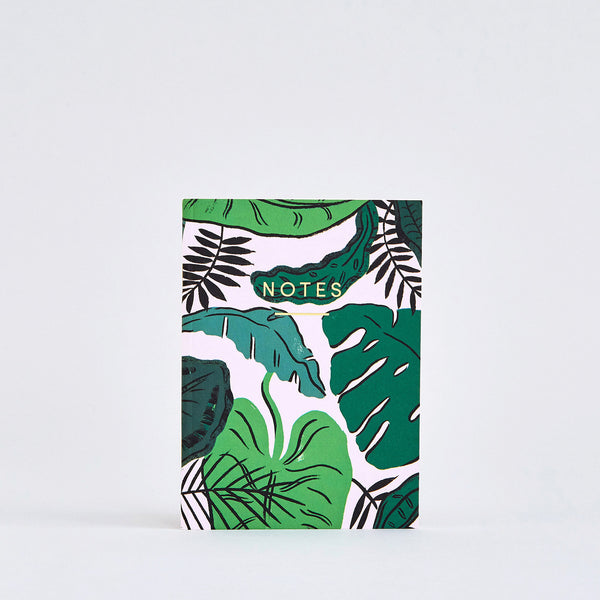 Tropical Leaves Small Notebook