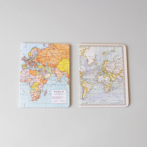 World Maps Notebook Set