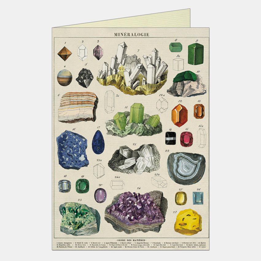 Mineralogie Greeting Card