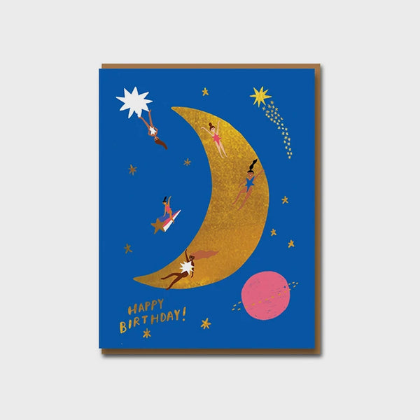 Moon Landing Birthday Greetings Card