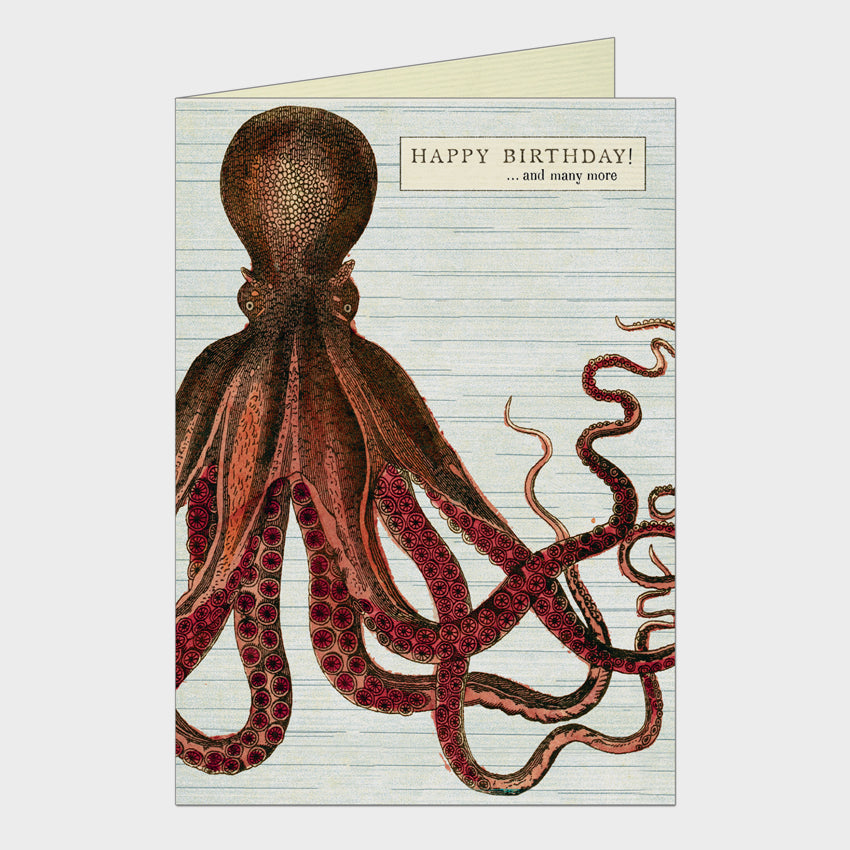 Happy Birthday Octopus Card