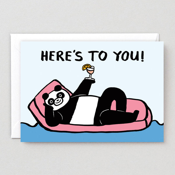 Here's to You Panda Greetings Card