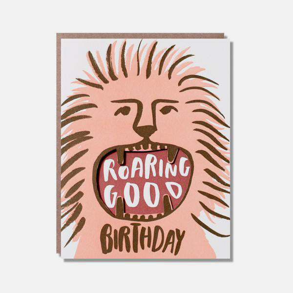 Roaring Good Greetings Card