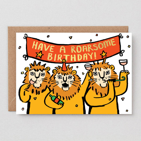 Roarsome Birthday Greetings Card