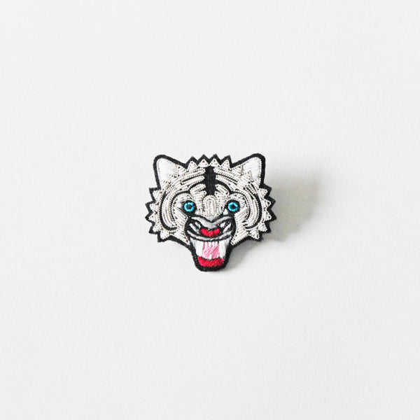 Macon & Lesquoy Tiger Head Brooch
