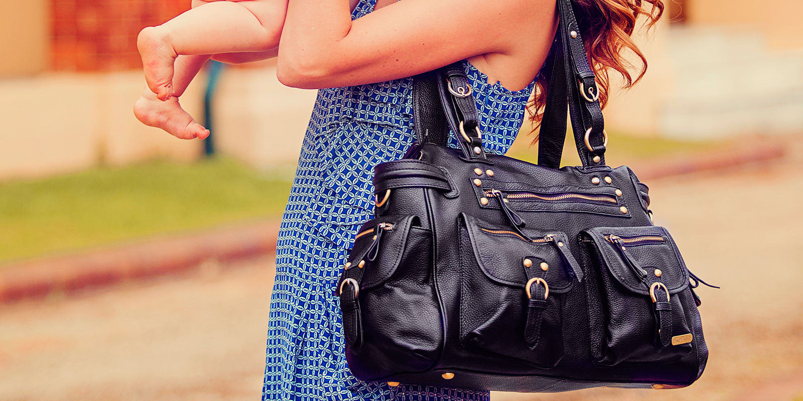 Victoria Nappy Bag | Black