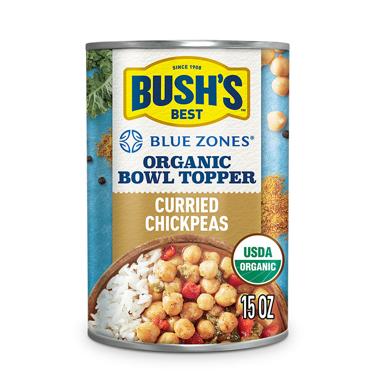 Bush's Curried Chickpeas Organic Bowl Topper