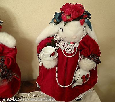 Apple Whimsey - Lop Eared Christmas Bunnies