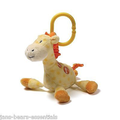 Baby Gund - Stripes & Dots - Grigsby Giraffe Rattle - 5""