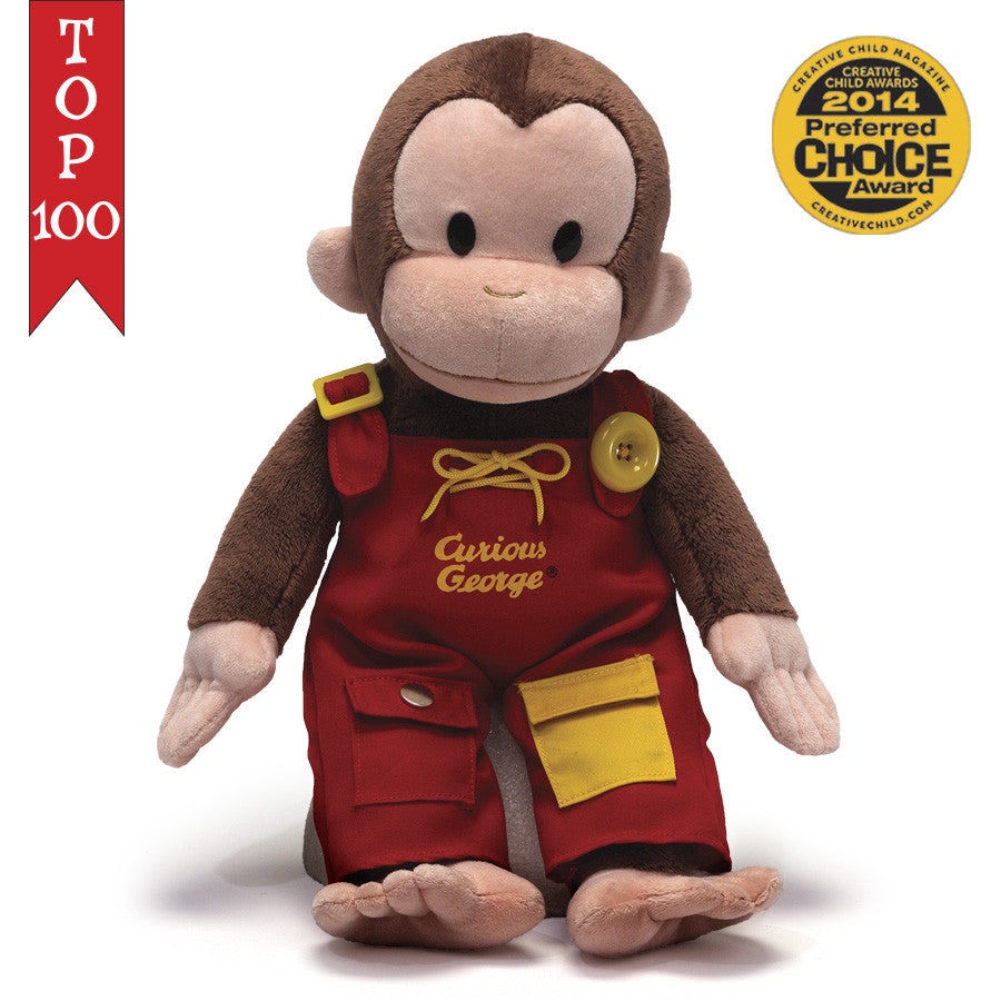 Gund - Curious George Teach Me - 16""
