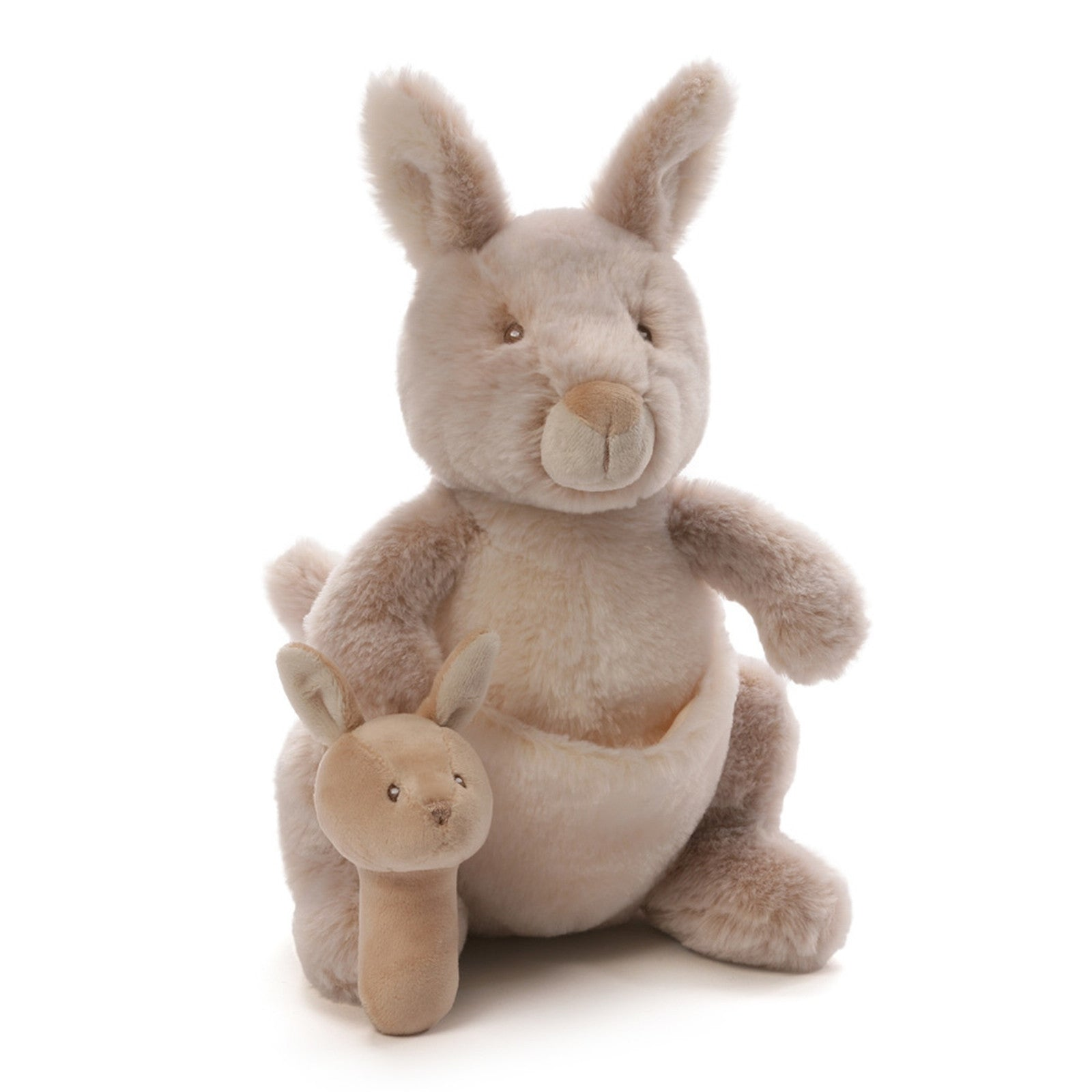 "Gund - Oh So Soft Collection - 11"" Kangaroo with Rattle"