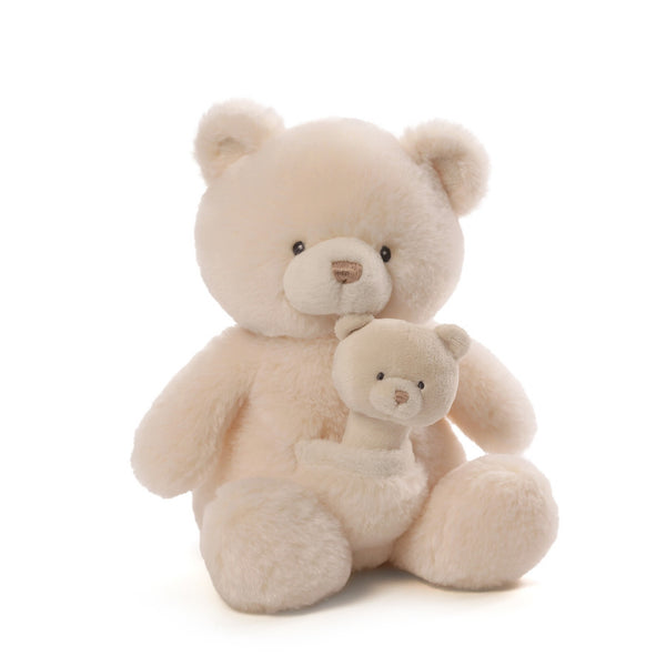 "Gund - Oh So Soft Collection - 11"" Bear with Rattle"
