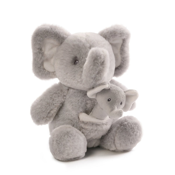"Gund - Oh So Soft Collection - 11"" Elephant with Rattle"