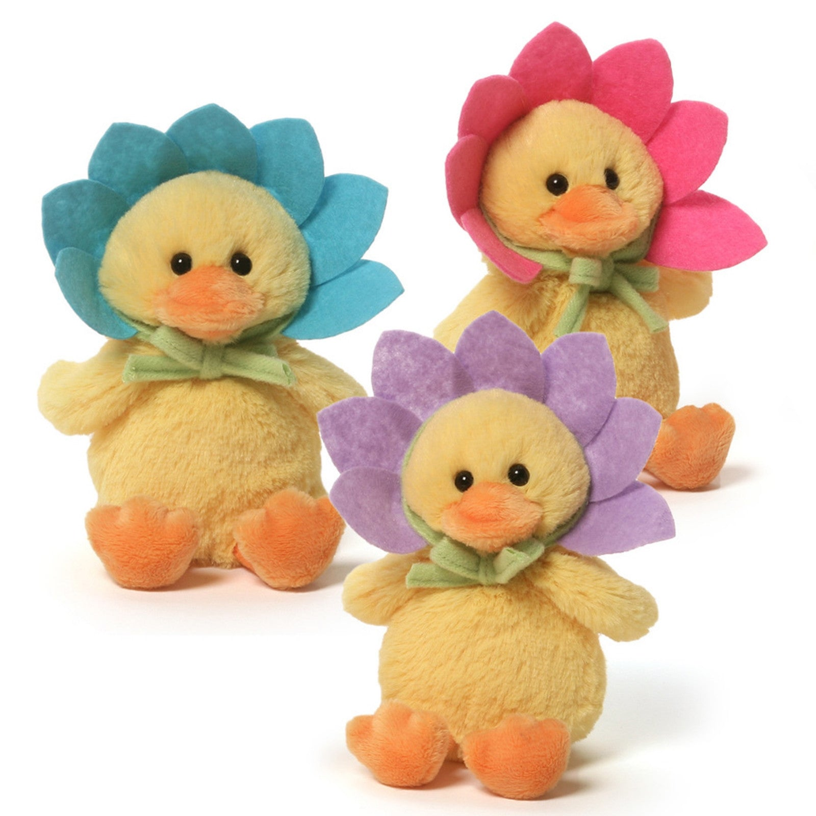 Gund - Flower Duck Sound Toy - Set of three - 5.5""