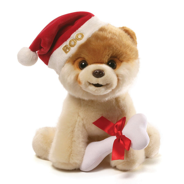 Gund  - Boo - Christmas with Bone - 9""