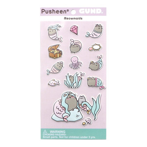 Gund - Pusheen Meowmaids Puffy Stickers