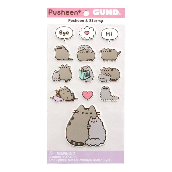 Gund - Pusheen & Stormy Puffy Stickers