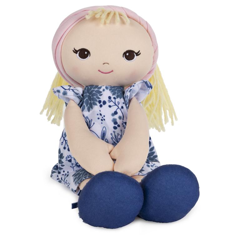 Baby Gund - Toddler Doll with Blue Floral Dress - 8""