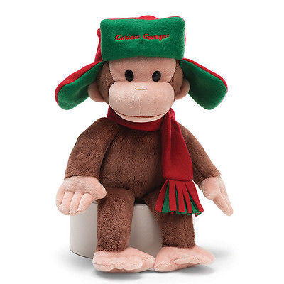 Gund - Curious George in Fargo Hat - 15""