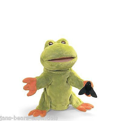 Gund - Fly on the Wall, Frog Puppet - 13""