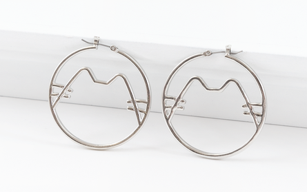 Pusheen - Cat Hoop Earrings