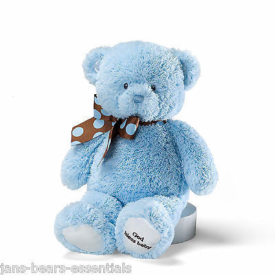 "Baby Gund - God Bless Baby Teddy - 12"" - Blue"