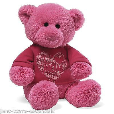 "Gund - T-Shirt Bear - ""I Love Mom"" - 12"""