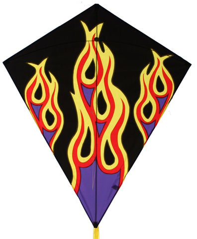 "Skydog Kites - 40"" Flames Diamond - Smooth Wind Kites - 1"