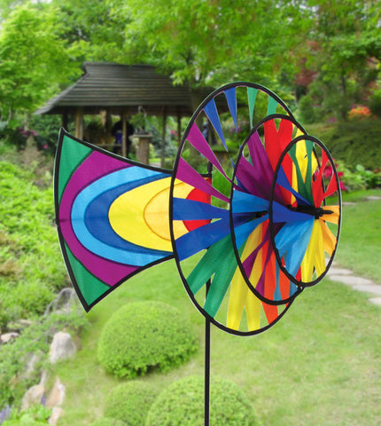 Rainbow Directional Pinwheel - Smooth Wind Kites