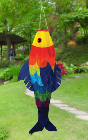 "36"" Sunburst Fish Windsock - Smooth Wind Kites"