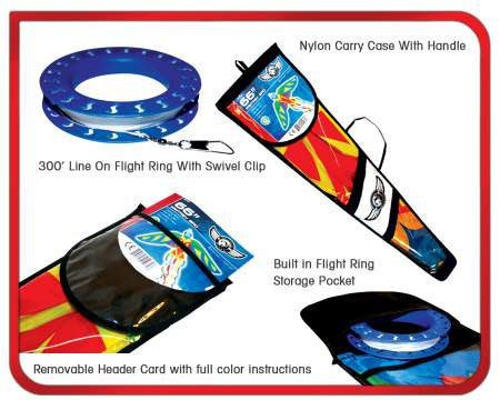 "Skydog Kites - 55"" Black Rainbow Delta - Smooth Wind Kites - 2"